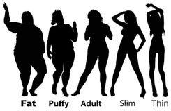 Ergebnis der Diät Stockfoto
