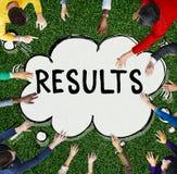 Ergebnis-Effekt-Bewertungs-Leistungsfähigkeits-Ergebnis-Konzept stockbilder