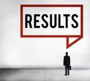 Ergebnis-Effekt-Bewertungs-Leistungsfähigkeits-Ergebnis-Konzept lizenzfreies stockbild