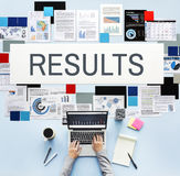 Ergebnis-Einschätzungs-Effekt-Leistungsfähigkeit wertet Konzept aus lizenzfreies stockfoto