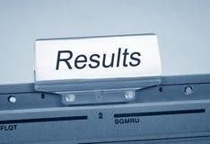 Ergebnis-Register-Ordner-Index Lizenzfreie Stockfotos