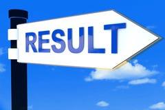 Ergebnis-StraßenWegweiserkonzept Lizenzfreies Stockfoto