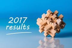 2017 Ergebnisse Jahrberichtkonzept Zeit, Ziele für das nächste Jahr zusammenzufassen und zu planen Stockbilder