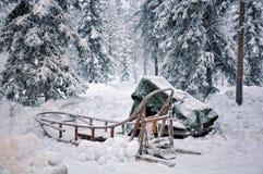Ergens in Lapland stock foto's