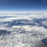 Ergens over Colorado Stock Afbeeldingen