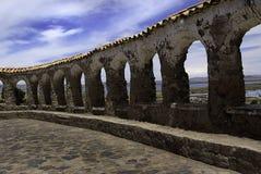 Ergiebigkeitstempel in den peruanischen Anden Stockfotos