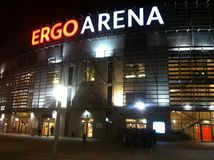 Ergo Arena in Gdansk, Polen Royalty-vrije Stock Foto