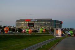 Ergo arena sporty i rozrywki sala przed mech Estonia vs Polska siatkówki mistrzostwa Europejscy mężczyzna Obraz Royalty Free