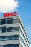 Ergo grupa od niemiec Monachium firm ubezpieczeniowych ponownego loga na budynku Czeskie kwatery główne Zdjęcie Stock