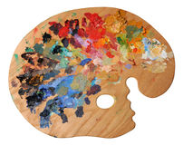 Ergonomic Artist's Palette Royalty Free Stock Photo