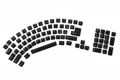 Ergonomic black keyboard Stock Photos