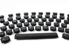 Ergonomic black keyboard Royalty Free Stock Photo