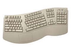 Ergonomic computer keyboard Royalty Free Stock Photo