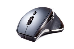 Ergonomic computer mouse. Must have tool for healthy work stock photography