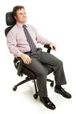 Ergonomic Executive Chair. Businessman sitting in a comfortable ergonomic office chair stock photos