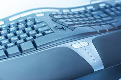 Ergonomic keyboard. At cool lighting Stock Image