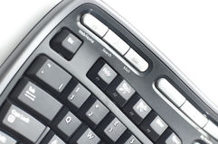 Ergonomic keyboard. Black Ergonomic keyboard  on white Royalty Free Stock Photos
