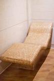 Ergonomic  lounger  with heated Stock Photo