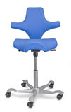 Ergonomic office chair. Modern vinyl office chair used for different seating positions to support the back Stock Photography