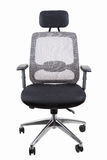 Ergonomic office swivel chair. Black office swivel chair isolated on white with clipping path Royalty Free Stock Photos