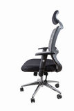Ergonomic office swivel chair isolated. On white with clipping path royalty free stock photo