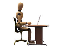 Ergonomic Sitting Stock Photo
