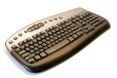 Ergonomical wireless computer keyboard royalty free stock image