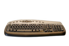 Ergonomical wireless computer keyboard stock photo