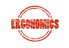 Ergonomics red rubber stamp Royalty Free Stock Images