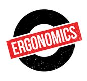 Ergonomics rubber stamp stock illustration