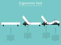 Ergonomisches Bett 1 stock abbildung
