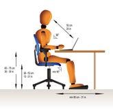ergonomisk sitting Fotografering för Bildbyråer