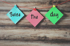 Ergreifen Sie den Tag Lizenzfreies Stockbild