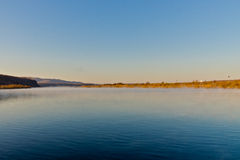 Ergun rzeka przy opóźnionym jesień rankiem Obrazy Royalty Free
