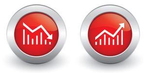 Erhöhen Sie Abnahme Ikonen Lizenzfreies Stockfoto