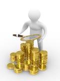 Erhöhen Sie Finanzierung auf weißem Hintergrund Stockbilder