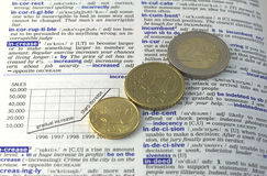 Erhöhen Sie Ihr Geld Stockbild
