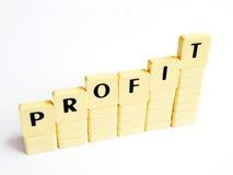 Erhöhen Sie sich des Profites Stockbild