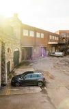 Erhöhte Ansicht von Audi A3 in Vereinigtem Königreich Stockbilder
