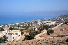 Erhöhte Ansicht von Hersonissos-Küstenlinie, Kreta Lizenzfreie Stockbilder