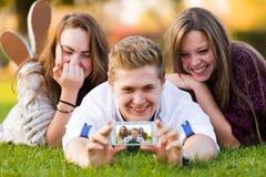 Erhöhte Bildqualität für Social Networking Stockfotos