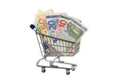 Erhöhte Lebenshaltungskosten Stockfoto