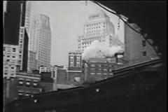 Erhöhte U-Bahn, New York City, dreißiger Jahre stock video footage