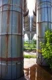 Erhöhter Abschnitt der Rohrleitungen Lizenzfreie Stockbilder