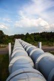 Erhöhter Abschnitt der Rohrleitungen Stockfoto