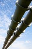 Erhöhter Abschnitt der Rohrleitungen Lizenzfreie Stockfotografie