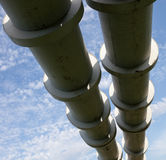 Erhöhter Abschnitt der Rohrleitungen Stockbild
