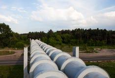 Erhöhter Abschnitt der Rohrleitungen Stockbilder