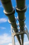 Erhöhter Abschnitt der Rohrleitungen Lizenzfreie Stockfotos