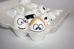erhöhtes Konzept der Frisur Die Eier Stockfotografie